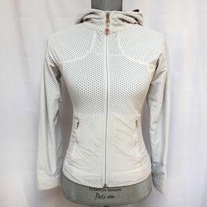 Lululemon White Mesh Zip Up Jacket Rare